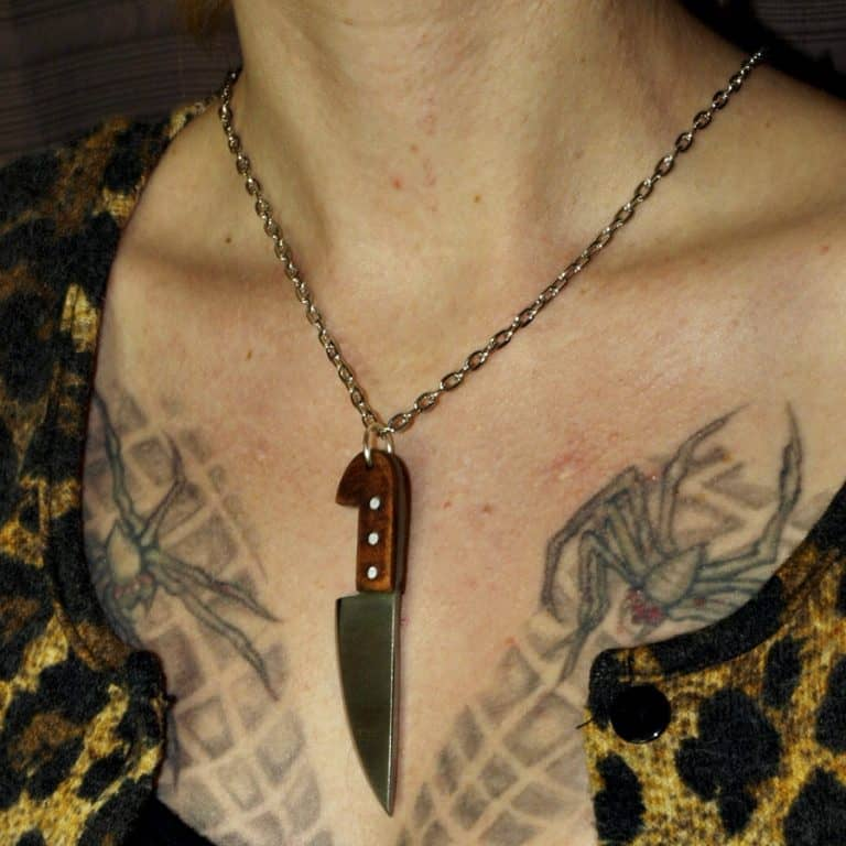 Ox Brand Forge Chef Knife Necklace Necklaces