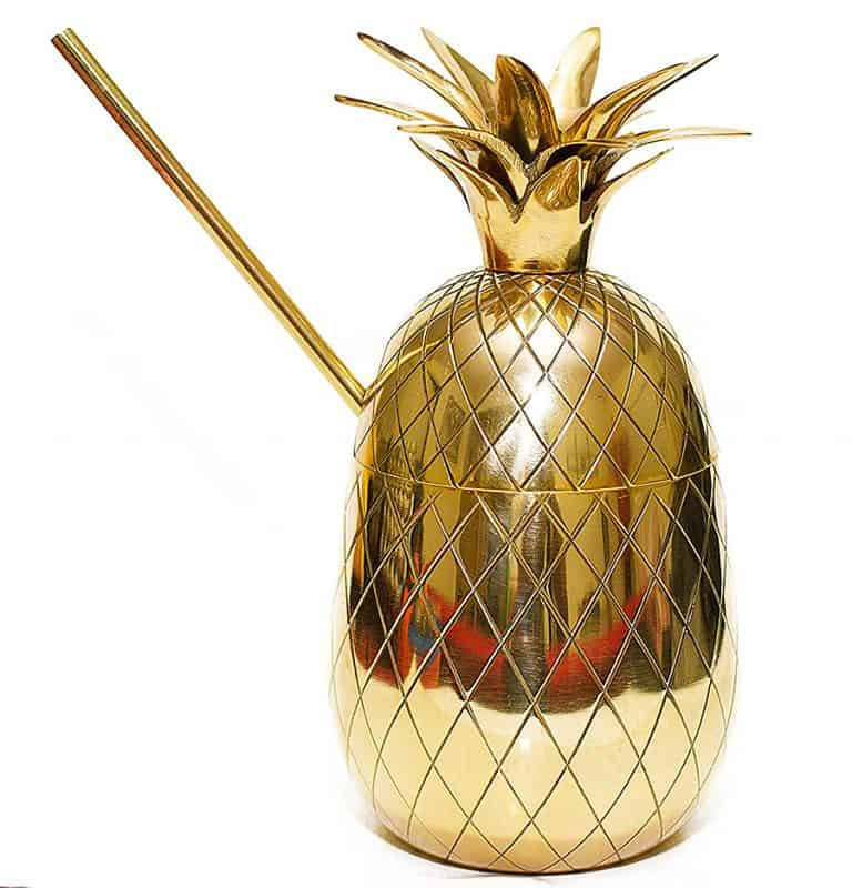 Pineapple Cocktail Mug 100 Percent Brass