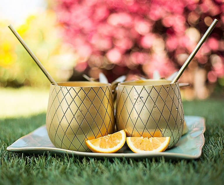 Pineapple Cocktail Mug Mug with Straw