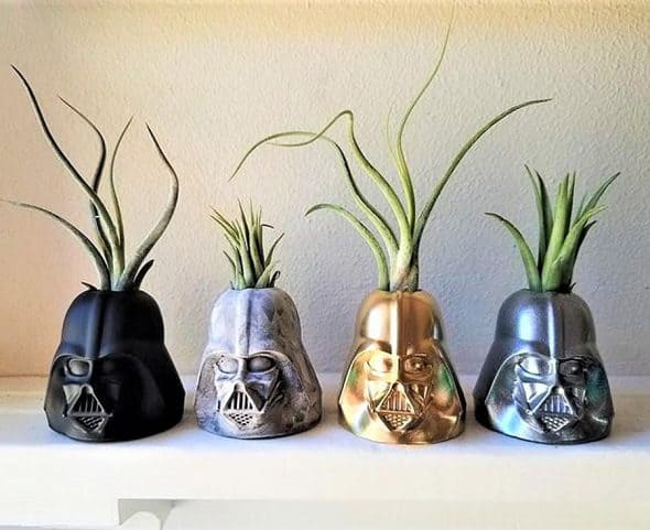 Redwood Stonework Darth Vader Inspired Planter Decoration