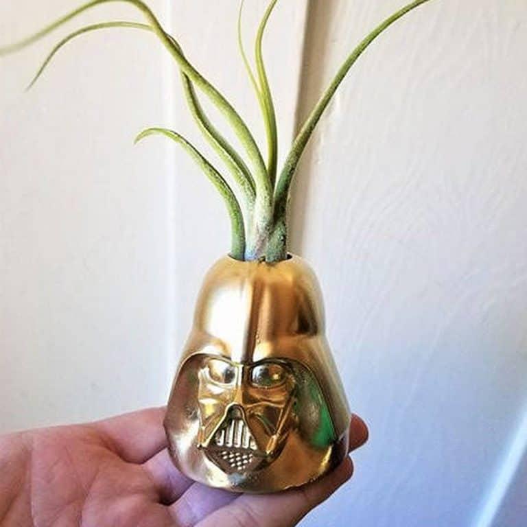 Redwood Stonework Darth Vader Inspired Planter Plant Holder