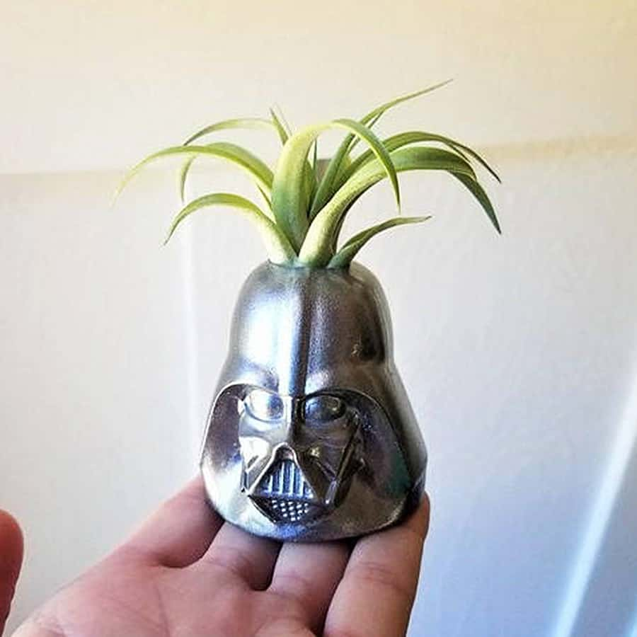 Redwood Stonework Darth Vader Inspired Planter Planters