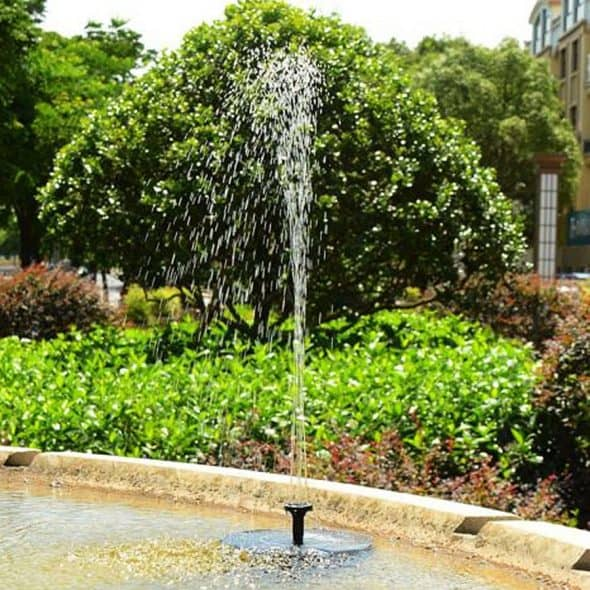 Solar Bird Bath Water Fountain Outdoor Fountains