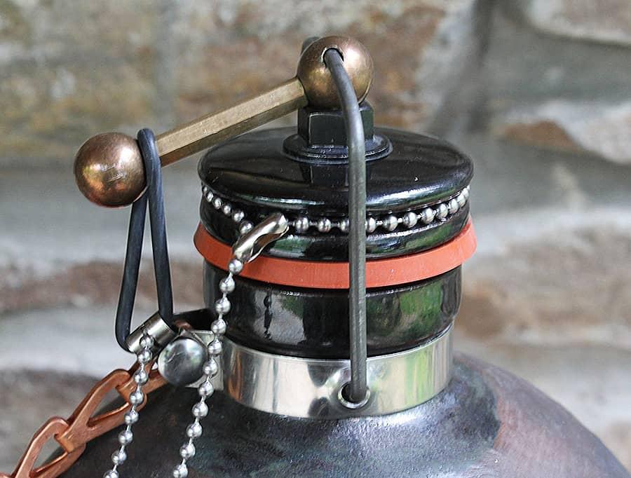 Terracotta Republic Cannonball Beer Growler Ceramic