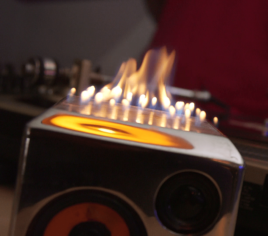 Pick some tunes to set your speaker on fire.