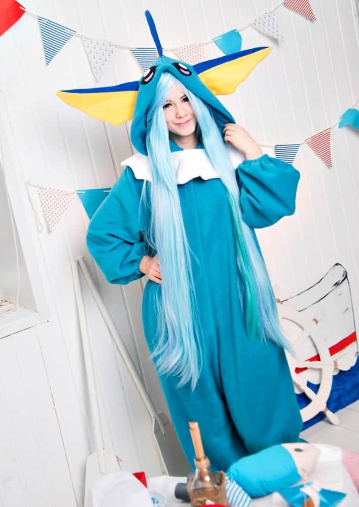 Yotsuba no Clover Vaporeon Pokemon Inspired Kigurumi Costume