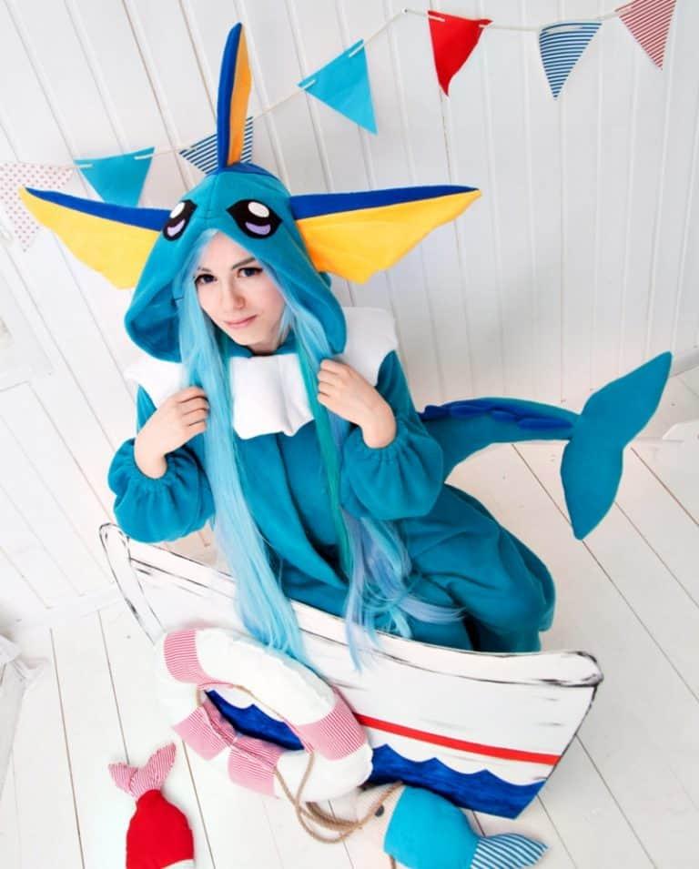 Yotsuba no Clover Vaporeon Pokemon Inspired Kigurumi Handmade Garment