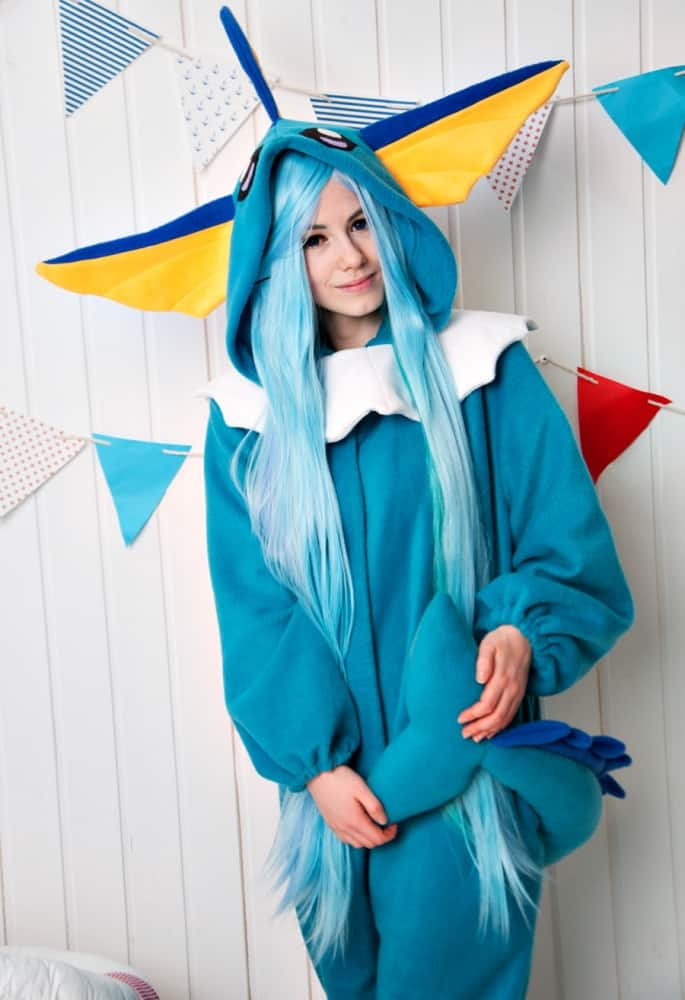 Yotsuba no Clover Vaporeon Pokemon Inspired Kigurumi Made to Order