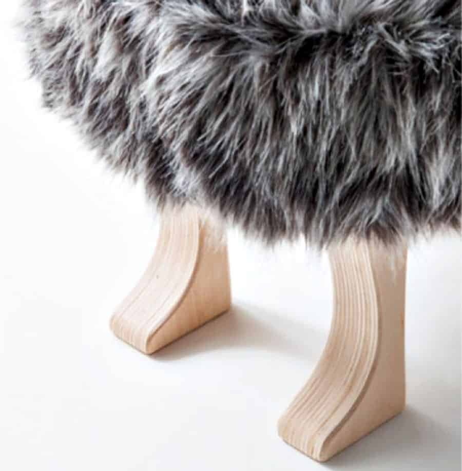 Animal Stool with Tail Furniture