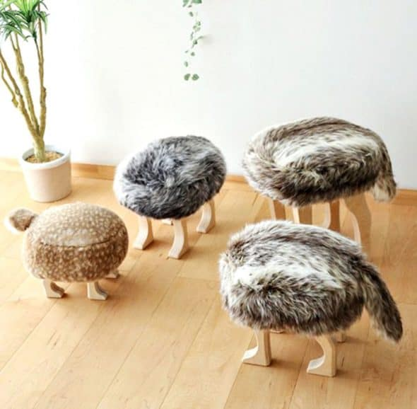 Animal Stool with Tail Stools