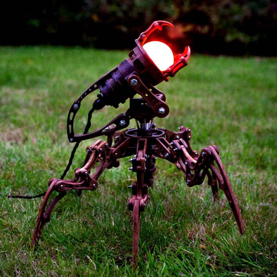 alien/robot/steampunk/spider/lamp/art