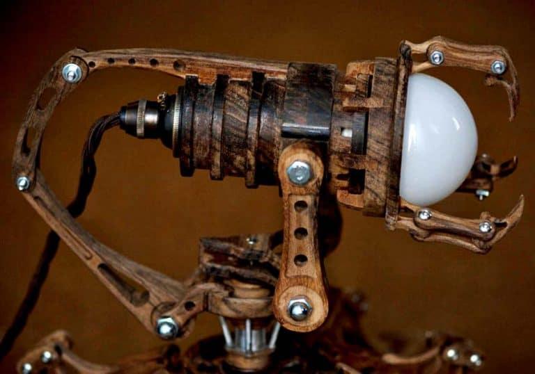 Artype Steampunk Robot Lamp ED-X01 Lights