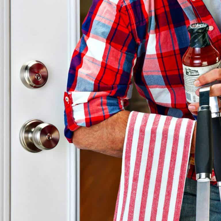 Brinks Home Security Push Pull Rotate Door Lock Hands Free