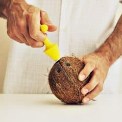 Crack open a coconut with ease.