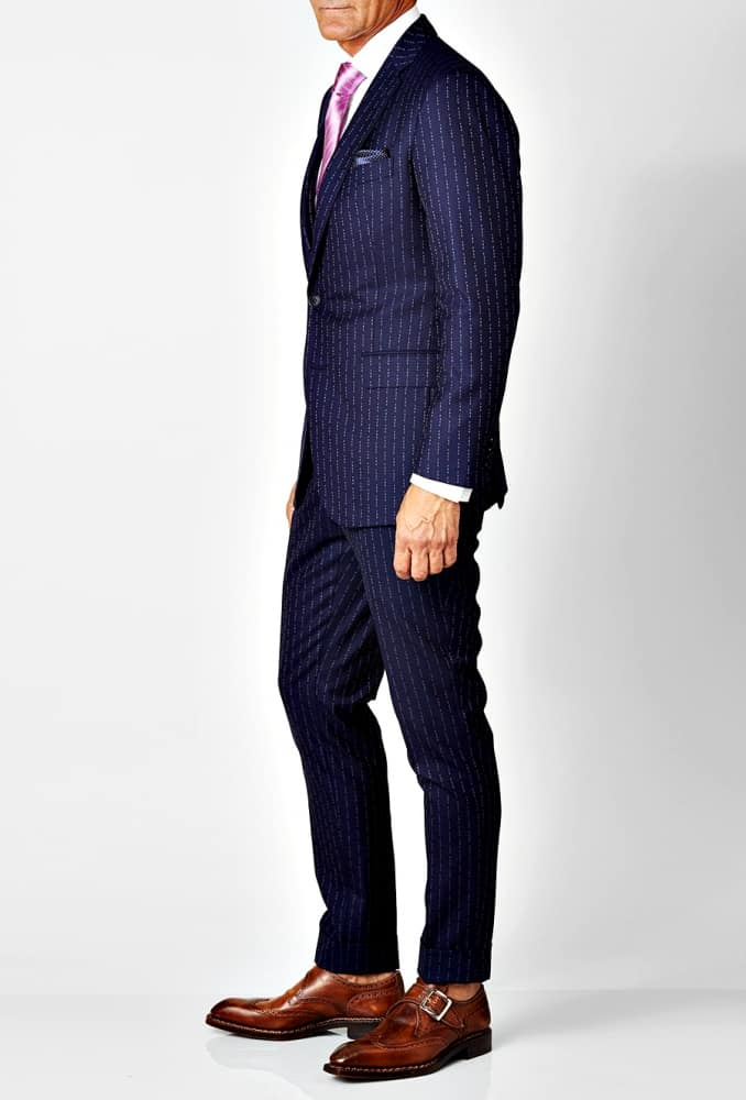 David August Eff You Pinstripe 3-Piece Wool Suit Formal Attire