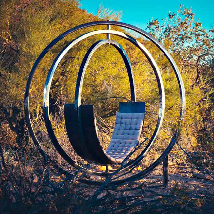 Etazin Interactive Outdoor Lounge Chair Art