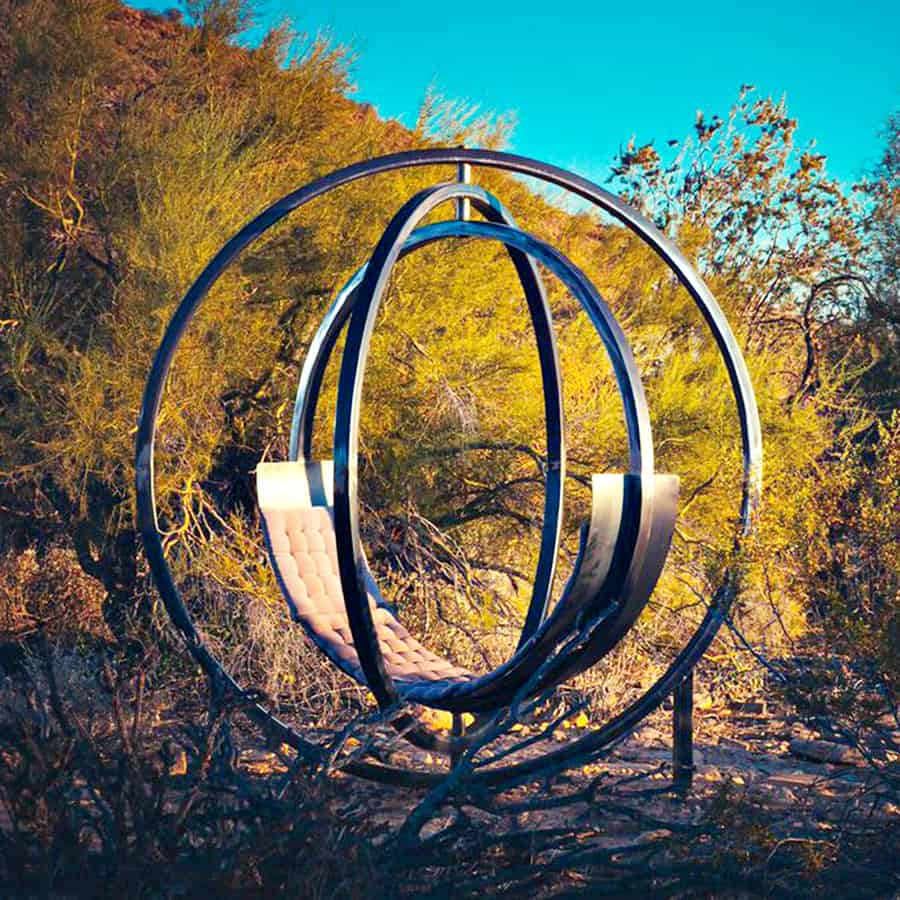 Etazin Interactive Outdoor Lounge Chair Sculptural