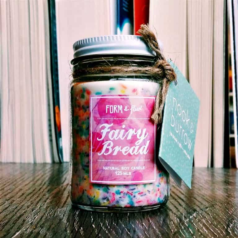 Form & Flux Fairy Bread Jam Jar Candle Handmade Products