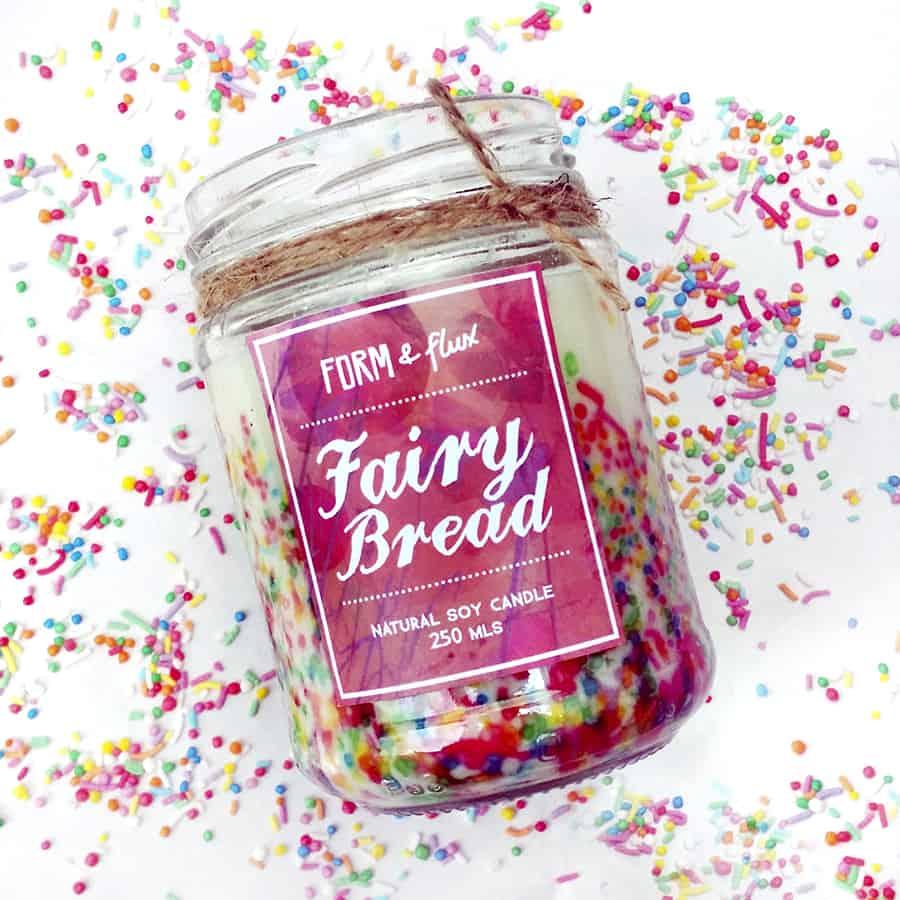 Form & Flux Fairy Bread Jam Jar Candle Soy Wax