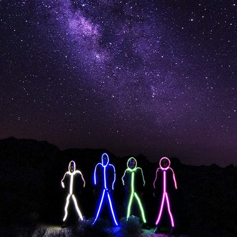 Glowy Zoey Adult LED Stickman Costume Cosplay