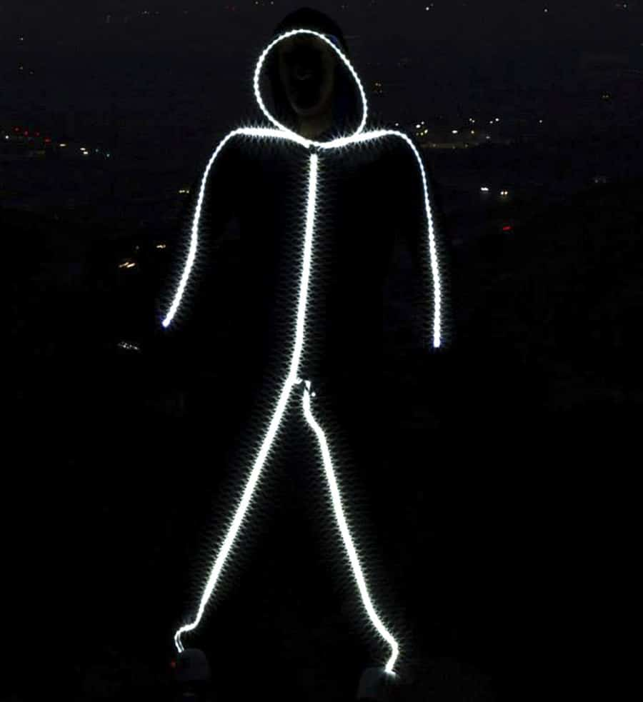 Glowy Zoey Adult LED Stickman Costume Novelty Product