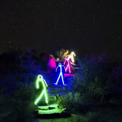 Light up the night with your stick figure.