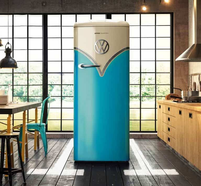 Gorenje Retro Special Edition VW Fridge Volkswagen Type 2 Blue