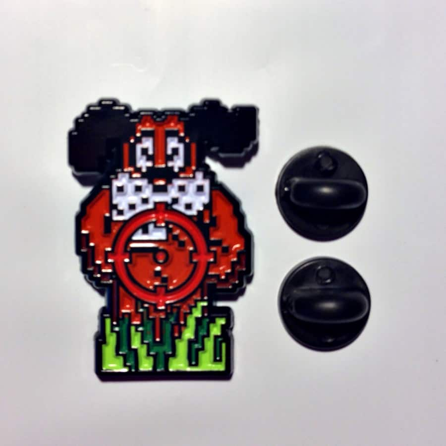 Meet Your Marker Duck Hunt Shoot the Laughing Dog Lapel Pin Made from Enamel