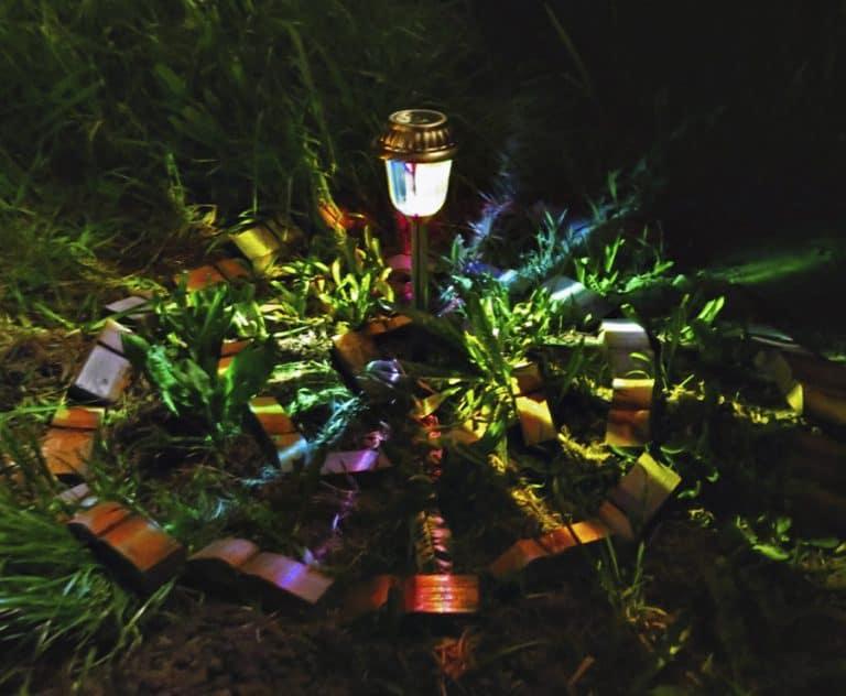 MoodLights Rainbow Painted Solar LED Path Light 3 Lumens