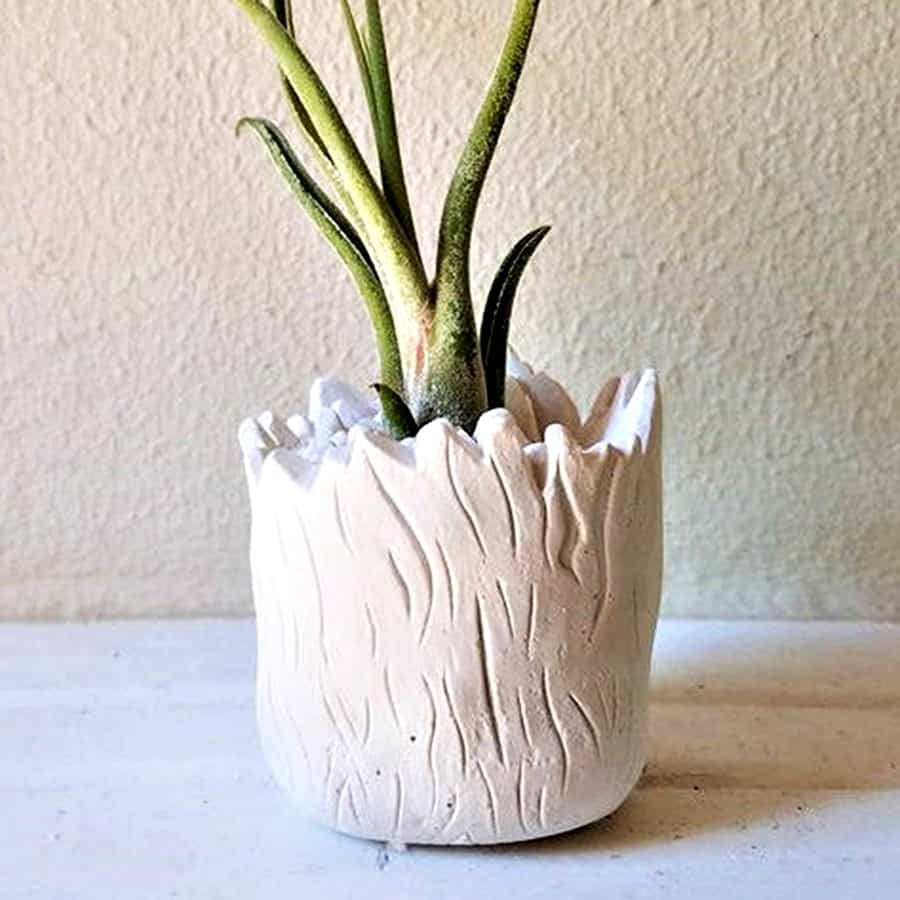 Redwood Stoneworks Baby Groot Inspired Planter Gypsum Plaster