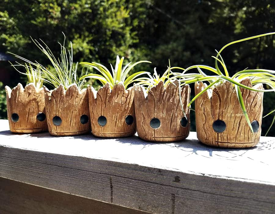 Redwood Stoneworks Baby Groot Inspired Planter Planters