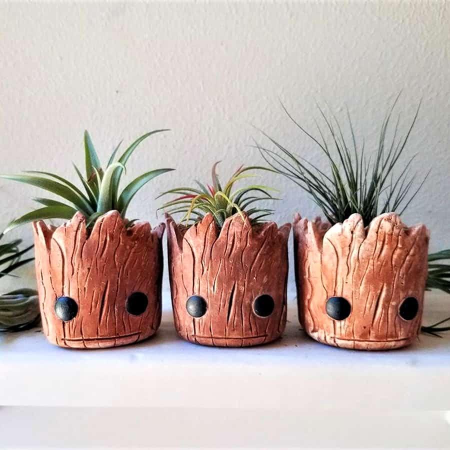Redwood Stoneworks Baby Groot Inspired Planter Stonework