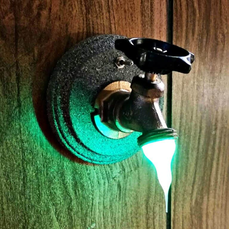 Resin Store Faucet LED Night Light Battery Operated