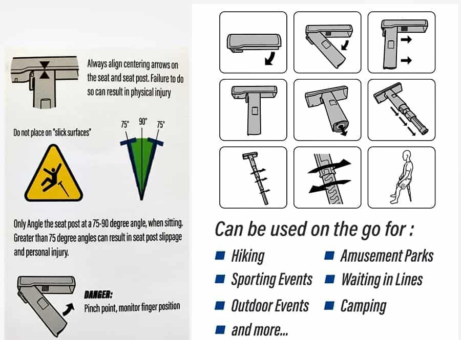 SitGo Portable Travel Stool Instruction