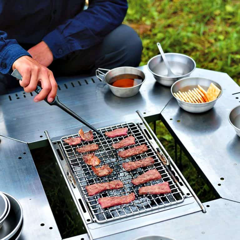 Snow Peak Jikaro Fire Ring Table Grills