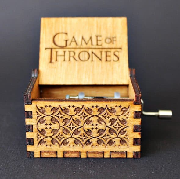 Soundbarrel Game of Thrones Engraved Wooden Music Box Handcrafted