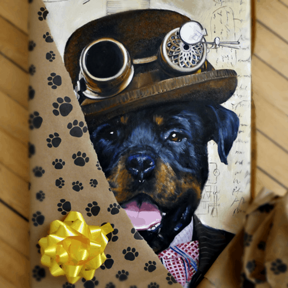 Splendid Beast Custom Pet Portrait Painting