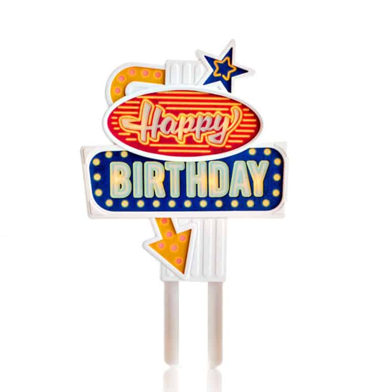 Suck UK Happy Birthday Flashing Cake Topper LED
