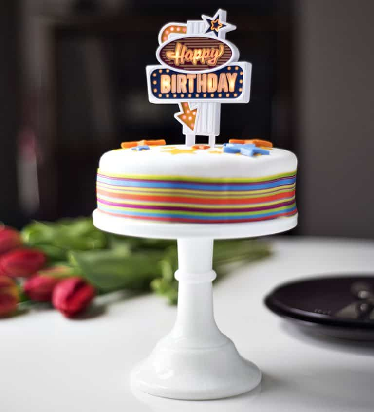 Suck UK Happy Birthday Flashing Cake Topper Toppers