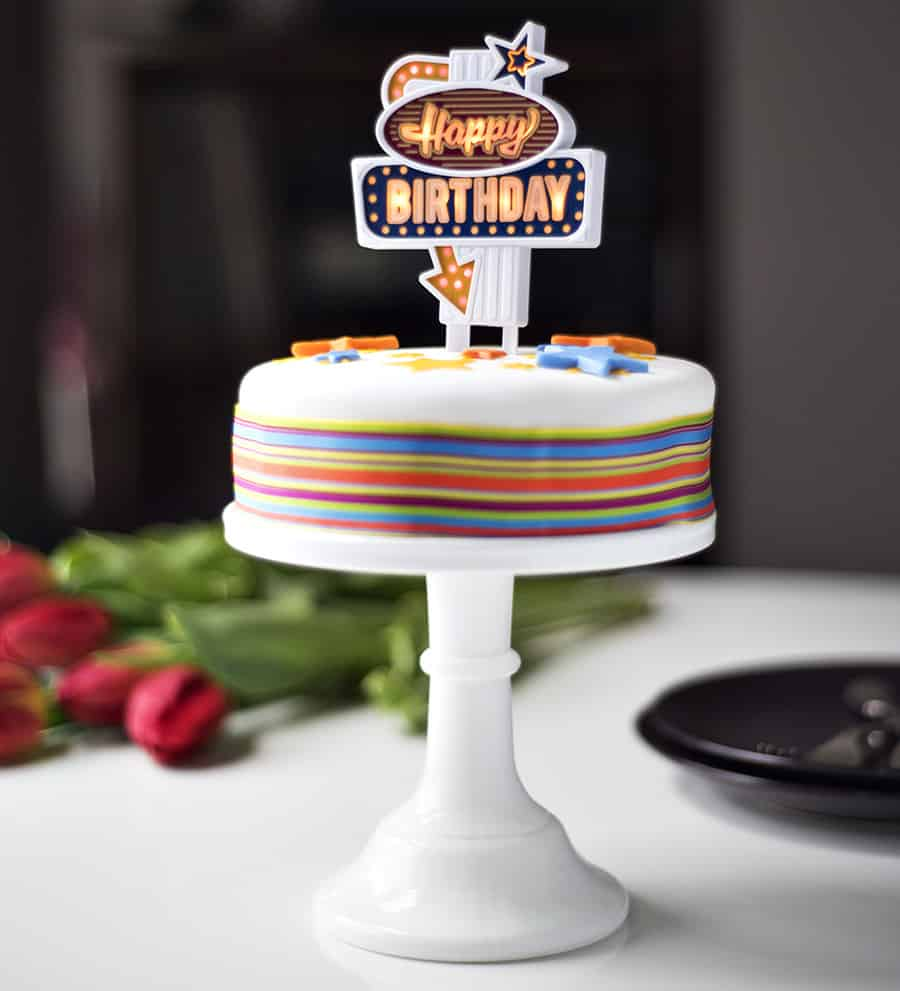 Suck Uk Happy Birthday Flashing Cake Topper Noveltystreet