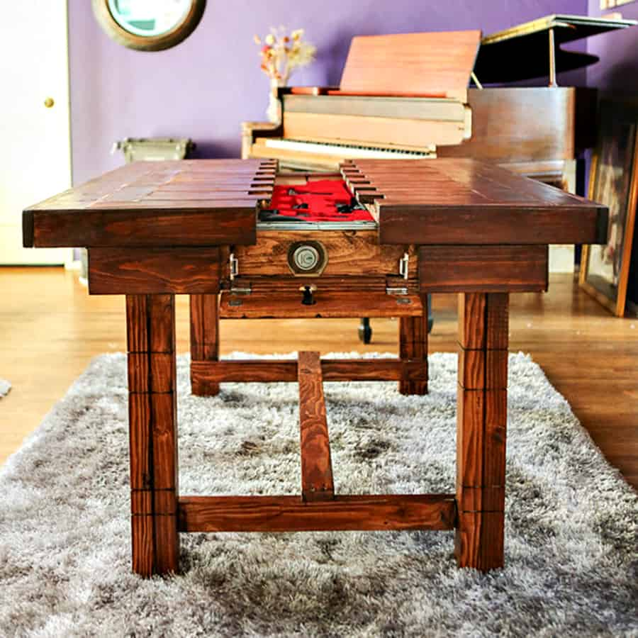 Guns On Kitchen Table: The Secret Table Dining Room Table With Secret Compartment