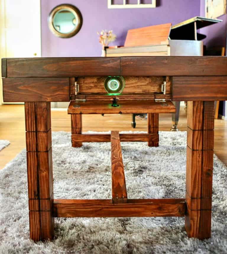 The Secret Table Dining Room Table with Secret Compartment Safety