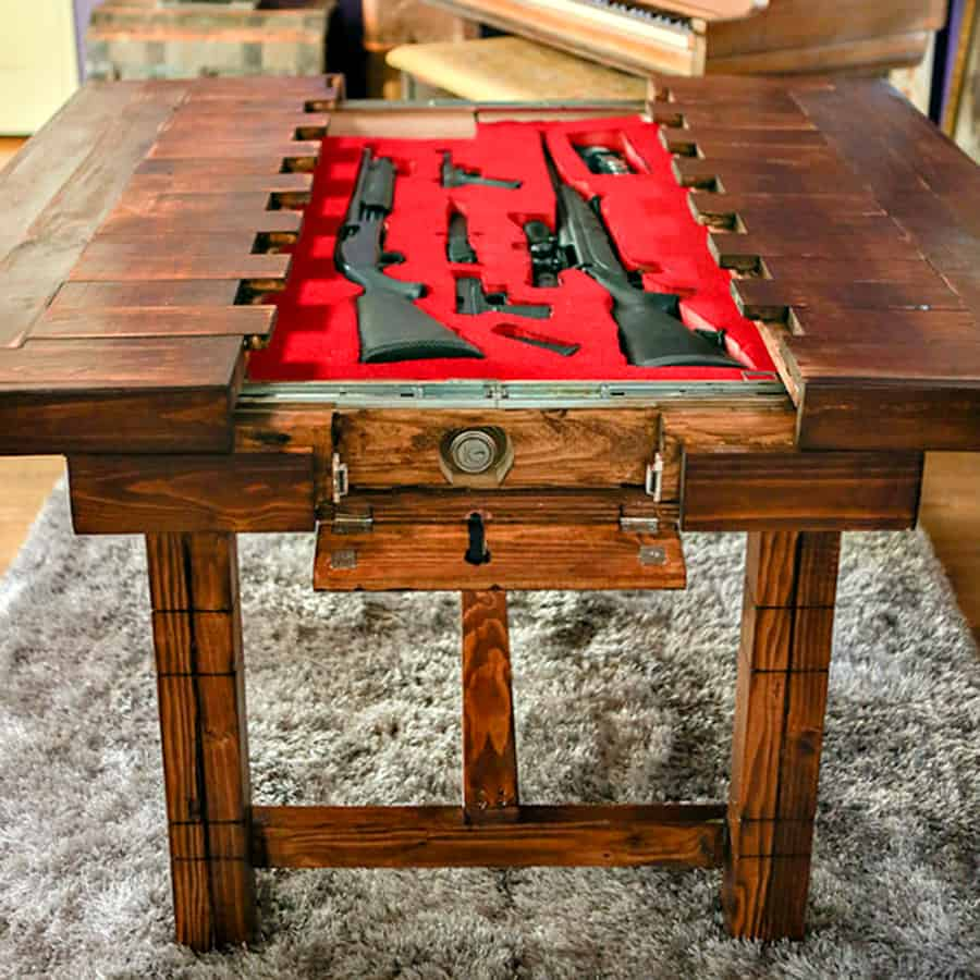The Secret Table Dining Room Table with Secret Compartment Storage