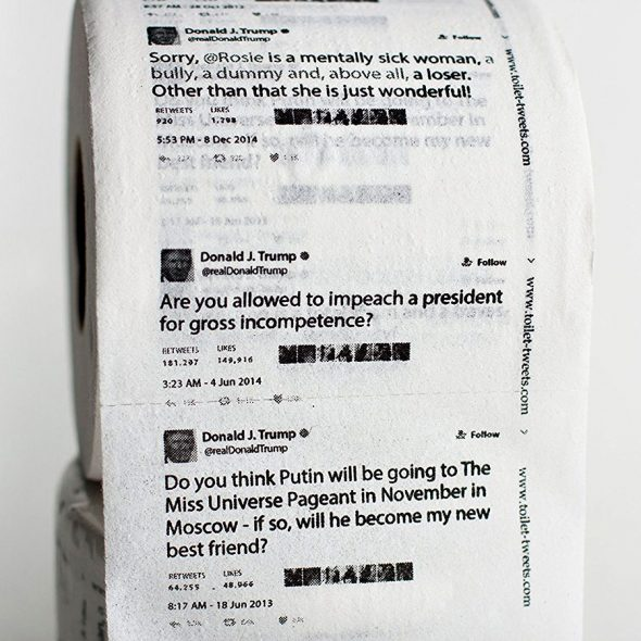 Toilet Tweets Donald Trump Classic Tweets Toilet Paper Bathroom Item