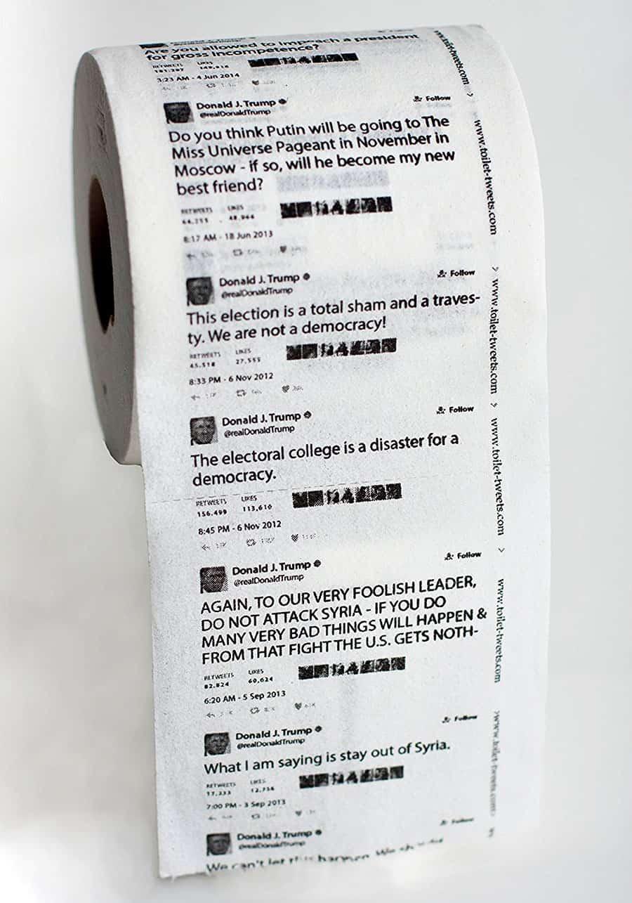 Toilet Tweets Donald Trump Classic Tweets Toilet Paper Hygiene Product