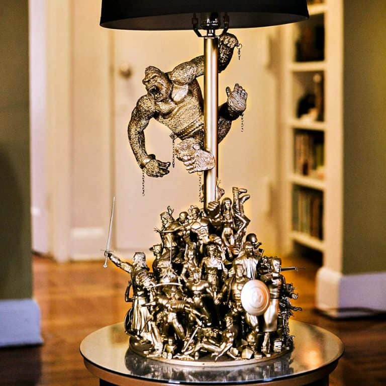 Upcycleangelo Action Figure Lamp Desk Lamp