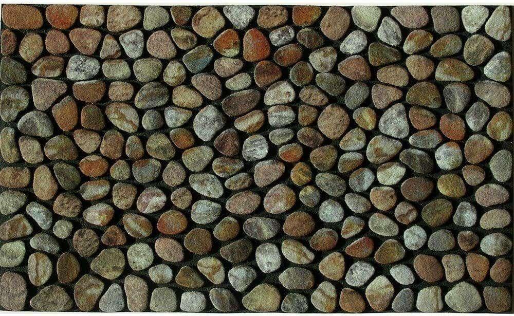 Rectangular pebble textured door mat