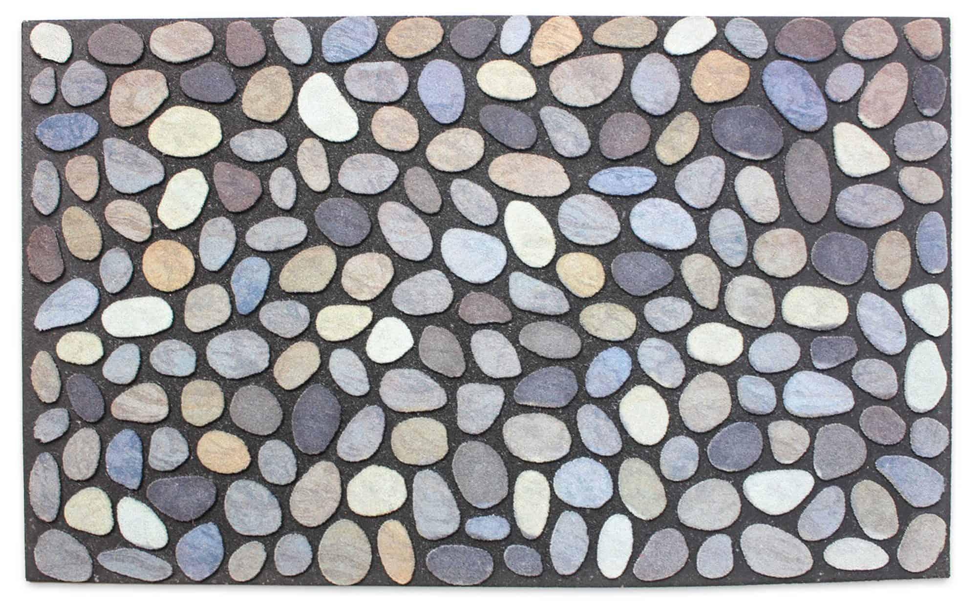 Bright Colored Stone Design Doormat
