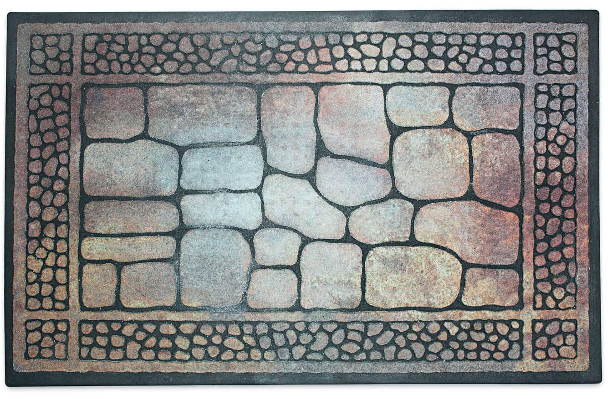Vintage style stone door mat