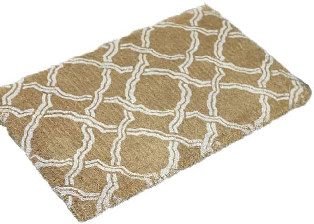 Light brown designer coir door mat